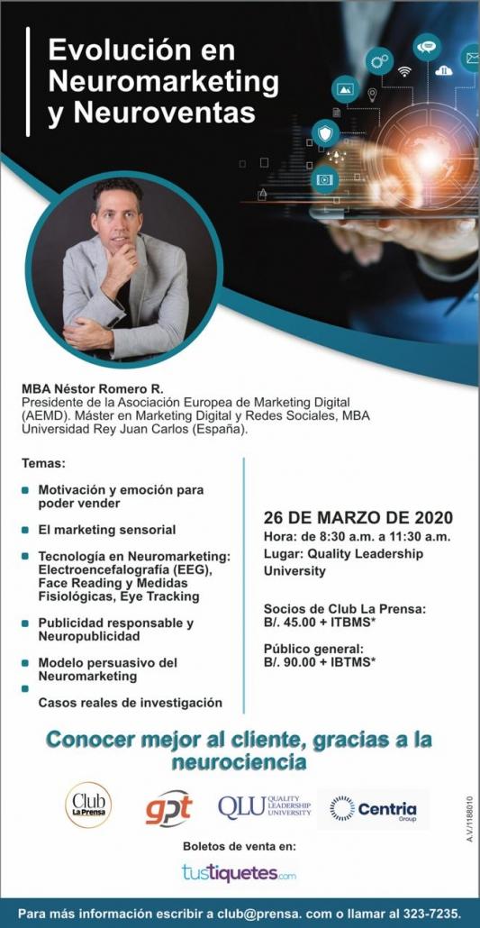 Seminario Evolución en Neuromarketing y Neuroventas por Néstor Romero